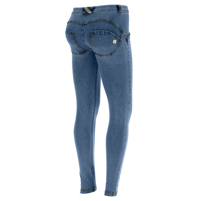 Freddy WR.UP® Denim Regular Rise Super Skinny - Medium Rinse + Yellow Stitching