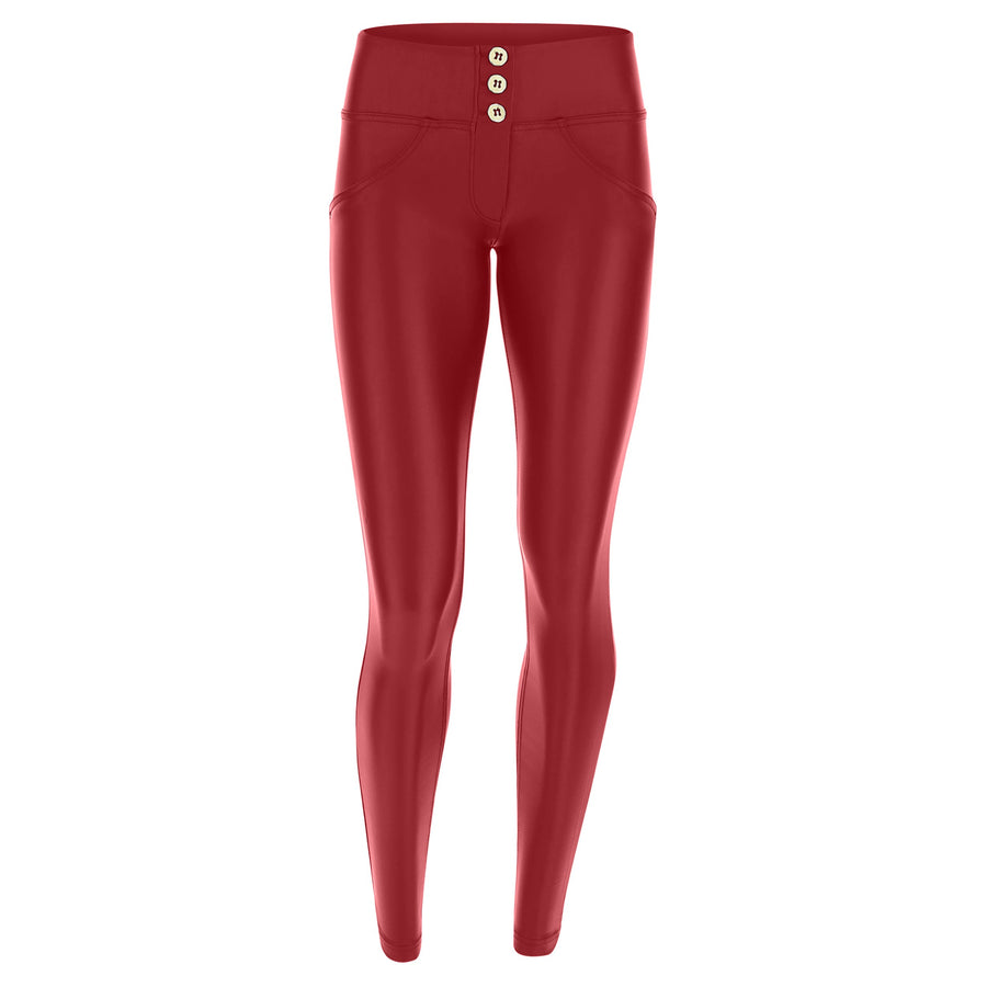 Freddy WR.UP® 3 Button Eco Leather Mid Rise Skinny - Red