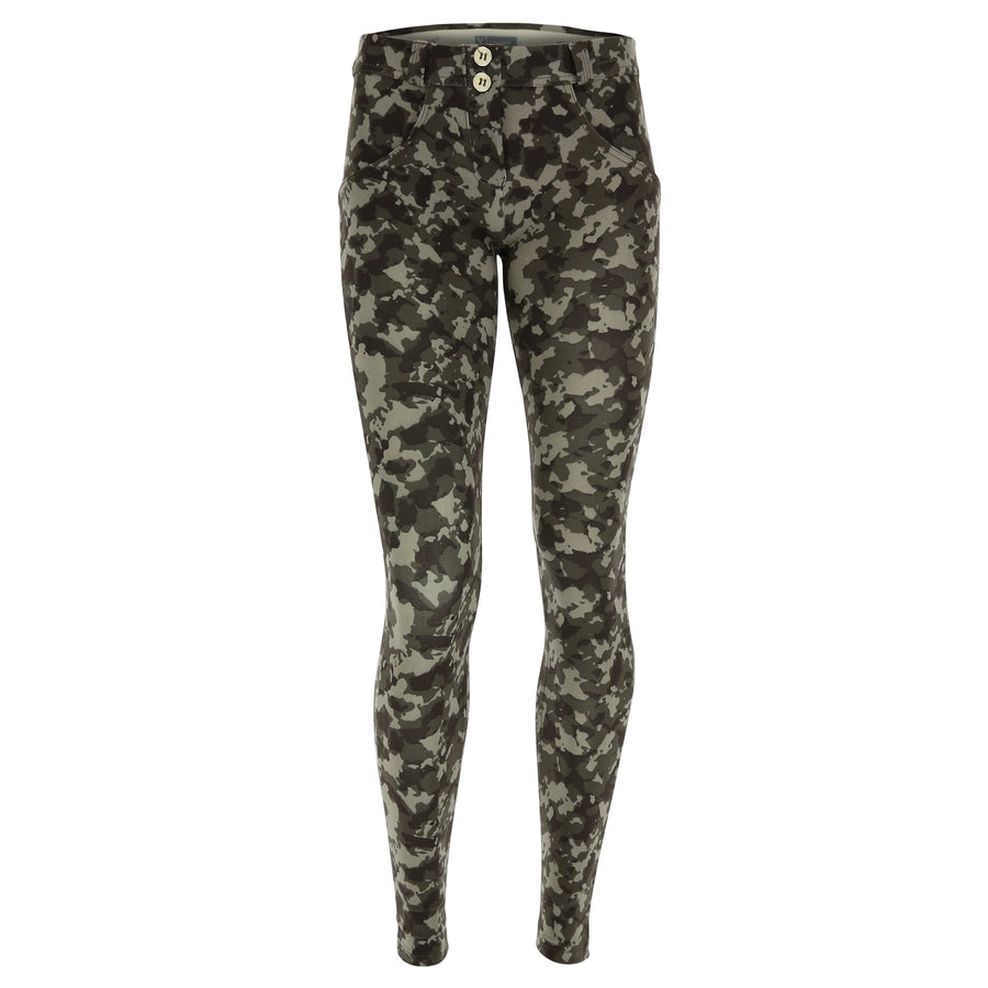 Freddy WR.UP® Heavy Cotton Regular Rise Skinny - Camo