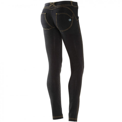 FREDDY WR.UP DENIM EFFECT SKINNY - Black Rinse