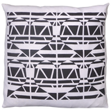 Dermond Peterson Alskling Pillow Black on White Linen. Block Print. Made in Milwaukee. Scandinavian Style. Sweetheart. Swedish Hearts. Black and White