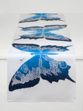 Dermond Peterson Butterfly Table Runner in Indigo