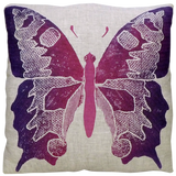 Dermond Peterson Butterfly in Violet on Natural Linen