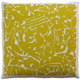 Dermond Peterson Collage Pillow in Mustard