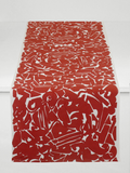 Dermond Peterson Collage Table Runner in Red