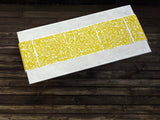 Dermond Peterson Collage Table Runner in Mustard