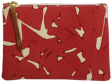 Dermond Peterson Collage Small Pouch in Red