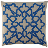 Dermond Peterson Cordoba Pillow Blue on Natural Linen
