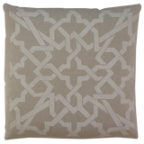 Dermond Peterson Cordoba Pillow White on Natural Linen