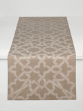 Dermond Peterson Cordoba Table Runner White on Natural Linen