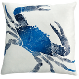 Dermond Peterson Crab Pillow Indigo