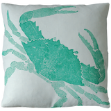 Dermond Peterson Crab Pillow Turquoise