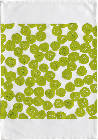 Dermond Peterson Cucumber Kitchen Towel