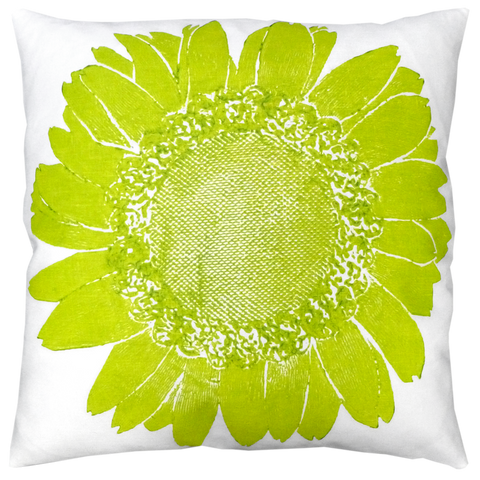 Dermond Peterson Daisy Pillow Chartreuse