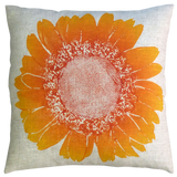 Dermond Peterson Daisy Pillow Clementine on Natural Linen