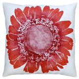 Dermond Peterson Daisy Pillow Red