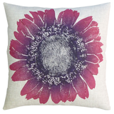 Dermond Peterson Daisy Pillow Violet on Natural Linen
