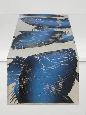 Dermond Peterson Dory Table Runner Indigo