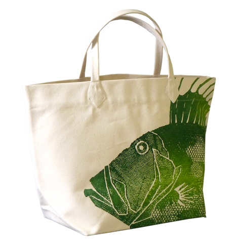 Dermond Peterson Lime Dory Fish Big Bag Tote