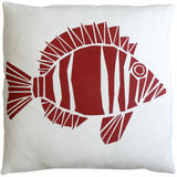 Dermond Peterson Fisk Pillow Red