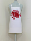 Dermond Peterson Fisk Little Chef's Apron in Red