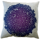 Dermond Peterson Hydrangea Pillow Violet on Natural Linen