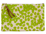 Dermond Peterson Large Scattered Dots Pouch in Chartreuse