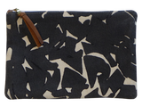 Dermond Peterson Large Collage Pouch in Black