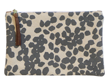 Dermond Peterson Large Scattered Dots Pouch in Gray