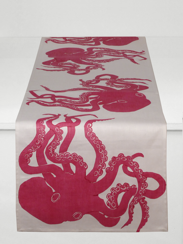 Dermond Peterson Octopus Table Runner Fuchsia
