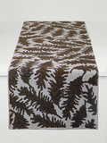 Dermond Peterson Pine Cone Table Runner in Brown on Natural Linen