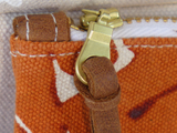 Dermond Peterson Leather Zipper Pull Detail