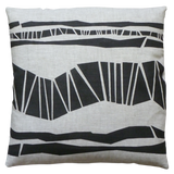 Dermond Peterson Randig Pillow Black on Natural Linen