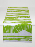 Dermond Peterson Randig Table Runner in Chartreuse on White Linen