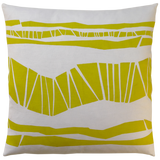 Dermond Peterson Randig Pillow in Mustard on White Linen