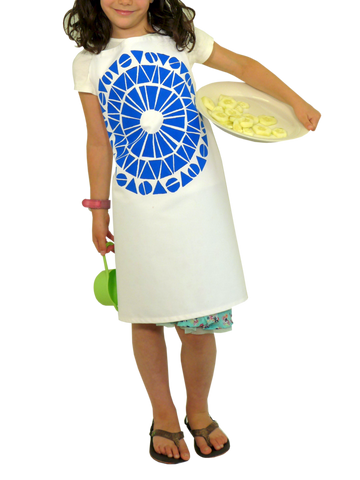 Dermond Peterson Cirkel Little Chef's Apron in Blue