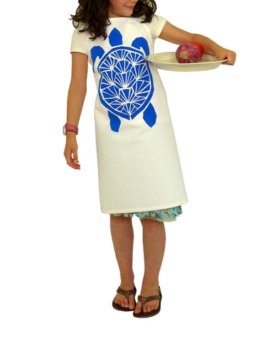 Dermond Peterson Sköldpadda Little Chef's Apron in Blue