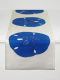 Dermond Peterson Sand Dollar Table Runner Indigo