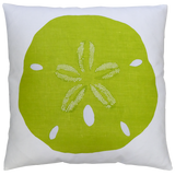 Dermond Peterson Sand Dollar Pillow in Chartreuse