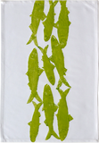 Dermond Peterson Sardine Kitchen Towel Chartreuse