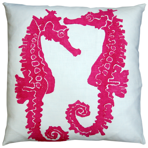 Dermond Peterson Sea Horse Pillow Fuchsia