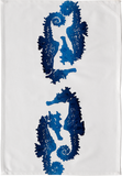 Dermond Peterson Sea Horse Kitchen Towel Indigo