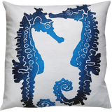 Dermond Peterson Sea Horse Pillow Indigo