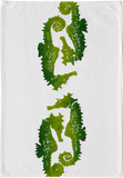 Dermond Peterson Sea Horse Kitchen Towel Lime