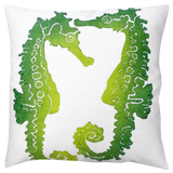 Dermond Peterson Sea Horse Pillow Lime
