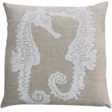Dermond Peterson Sea Horse Pillow White on Natural