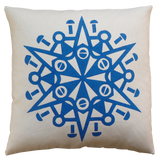 Dermond Peterson Snöflinga Pillow Blue