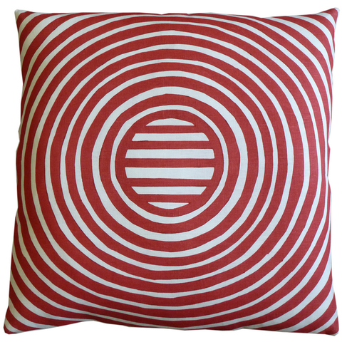 Dermond Peterson Stripe Pillow Red