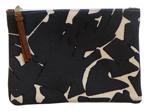 Dermond Peterson Small Collage Pouch in Black