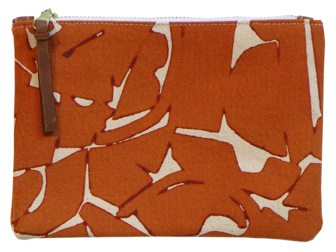 Dermond Peterson Small Collage Pouch in Terra Cotta